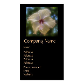 Abstract Hibiscus Flower Double-Sided Standard Business Cards (Pack Of 100)