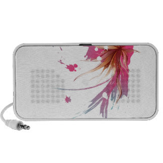 Abstract Hibiscus Flower iPhone Speakers