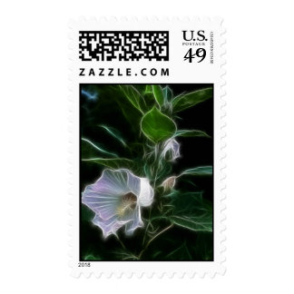 Abstract Hibiscus Postage