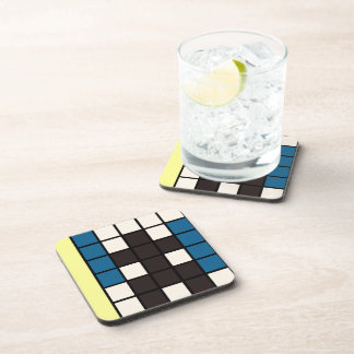 Abstract hidden man art beverage coaster