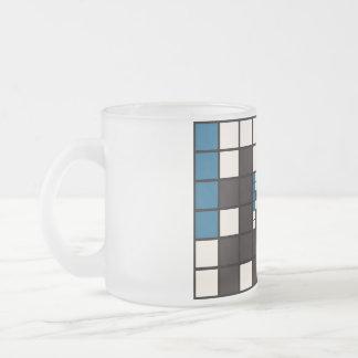 Abstract hidden man art coffee mugs