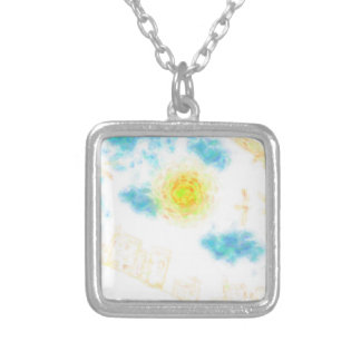 Abstract Hilltop Residences Silver Plated Necklace