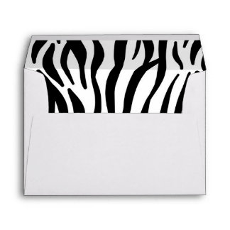 Abstract hipster black white zebra print pattern envelope