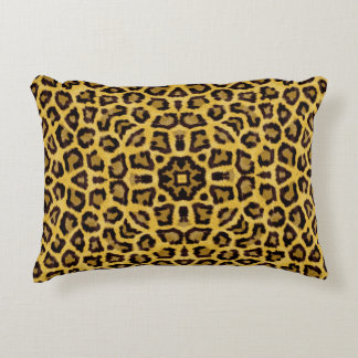 Abstract Hipster Cheetah Animal Print Accent Pillow