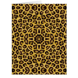 Abstract Hipster Cheetah Animal Print Card
