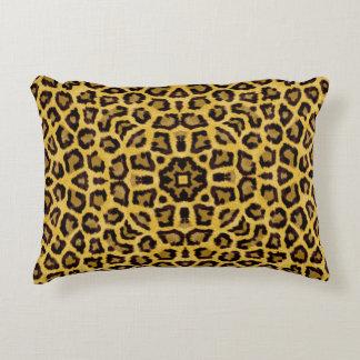 Abstract Hipster Cheetah Animal Print Decorative Pillow