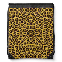 Abstract Hipster Cheetah Animal Print Drawstring Backpack