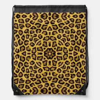 Abstract Hipster Cheetah Animal Print Drawstring Backpack