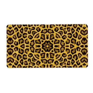 Abstract Hipster Cheetah Animal Print Label