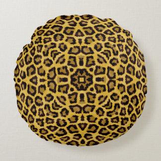 Abstract Hipster Cheetah Animal Print Round Pillow