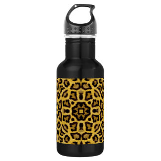 Abstract Hipster Cheetah Animal Print Stainless Steel Water Bottle