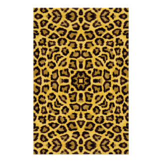 Abstract Hipster Cheetah Animal Print Stationery