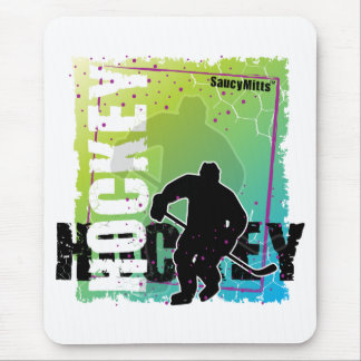 Abstract Hockey (male) Mouse Pad