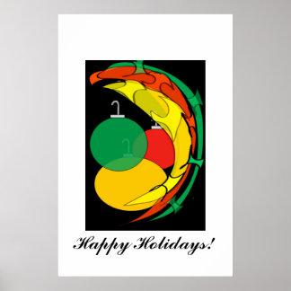 Abstract Holiday Cheer Print