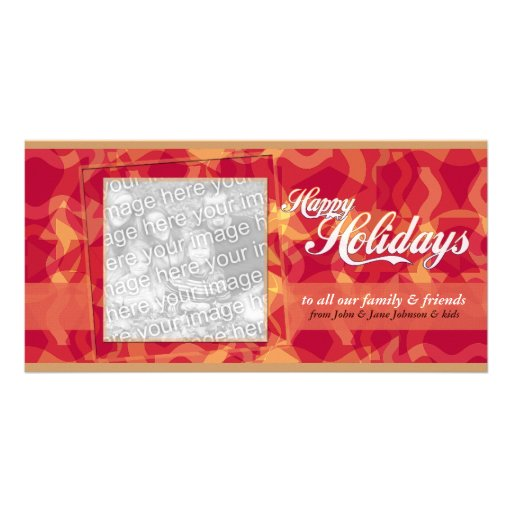 Abstract Holidays Photo Card