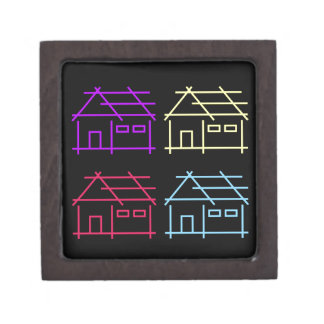 Abstract home for real estate or architecture firm gift box