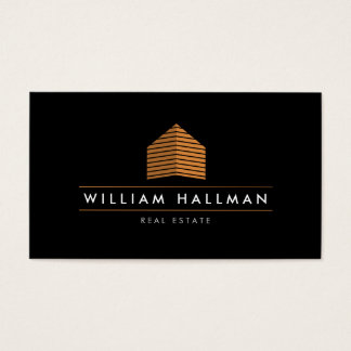 Abstract Home Logo Orange/Black Business Card