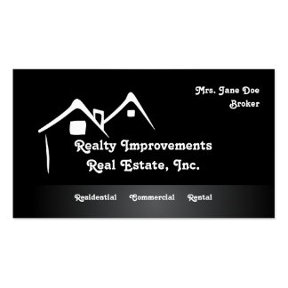 Abstract Homes Real Estate Business Card