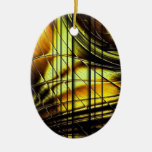 Abstract Honeygold Ornament