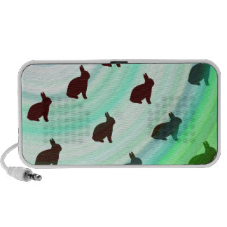 Abstract Hopping Bunnies Speaker
