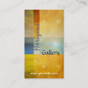 Art gallery business cards zazzle abstract horizons art gallery business card reheart Images