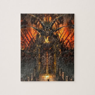Abstract Horror Approach The Gates Of Hell Jigsaw Puzzle
