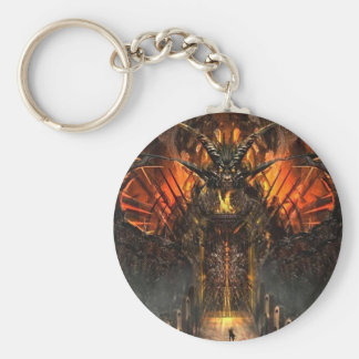 Abstract Horror Approach The Gates Of Hell Keychain
