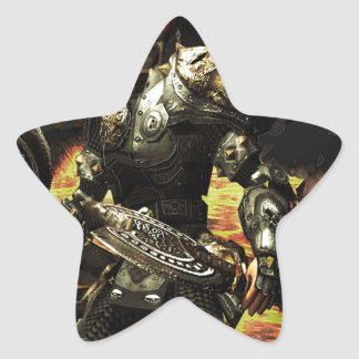 Abstract Horror Death Comes Armour Star Sticker
