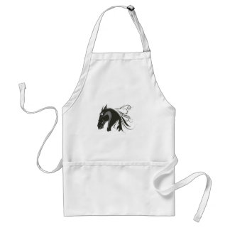 Abstract Horse Adult Apron