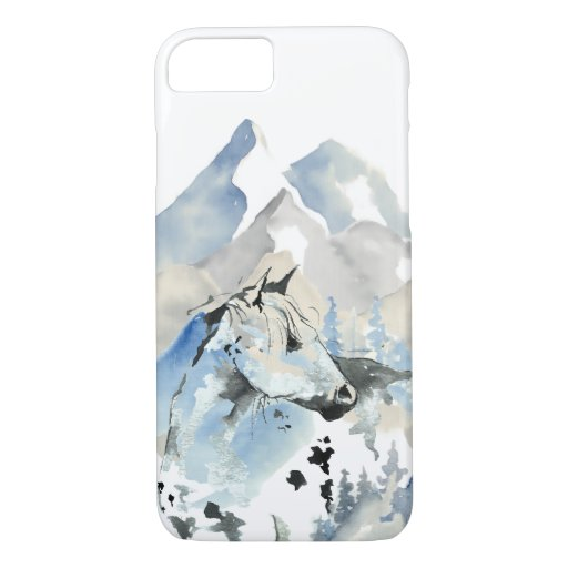 Abstract Horse and Mountains iPhone 8/7 Case