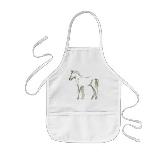 Abstract horse drawing apron
