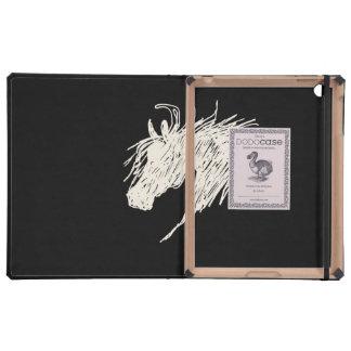 Abstract Horse Head art iPad Cases