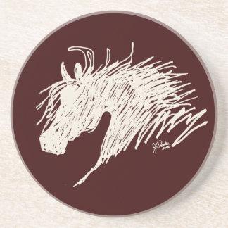 Abstract Horse Head art Coaster