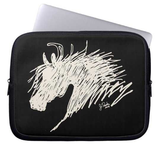 Abstract Horse Head art Computer Sleeve