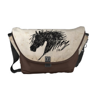 Abstract Horse Head art Courier Bag