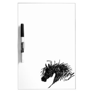 Abstract Horse Head art Dry-Erase Board