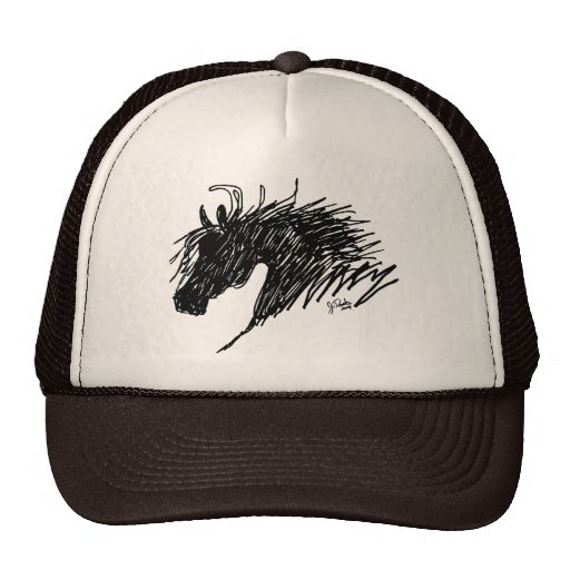 Abstract Horse Head art Hats