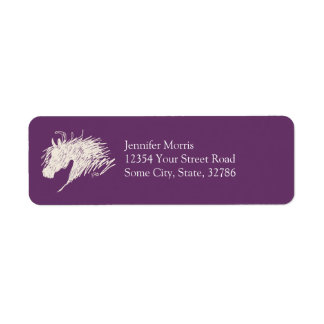 Abstract Horse Head art Label