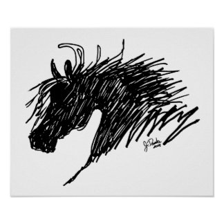 Abstract Horse Head art Poster