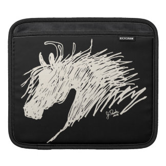 Abstract Horse Head art Sleeve For iPads
