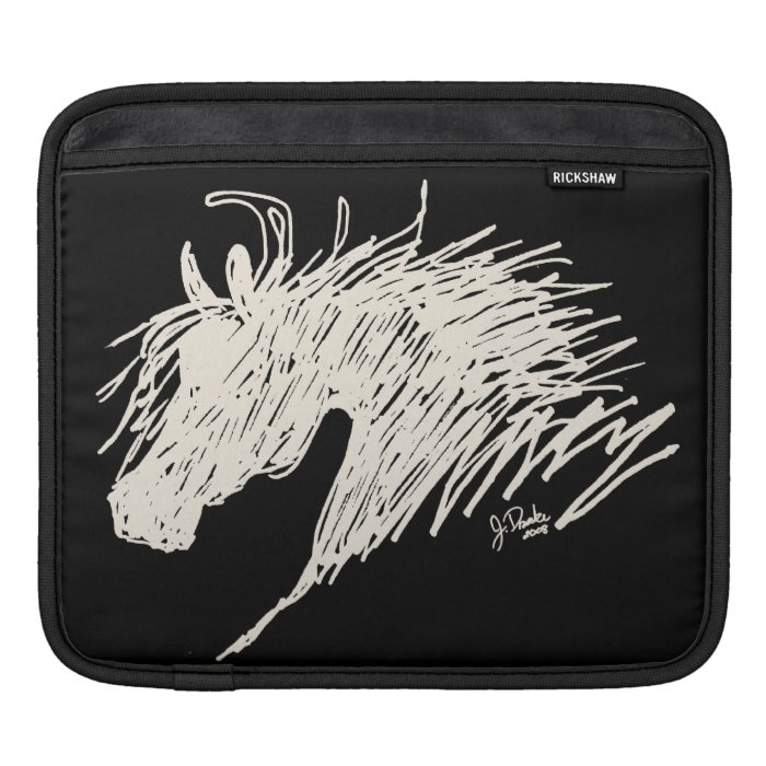 Abstract Horse Head art Sleeves For iPads