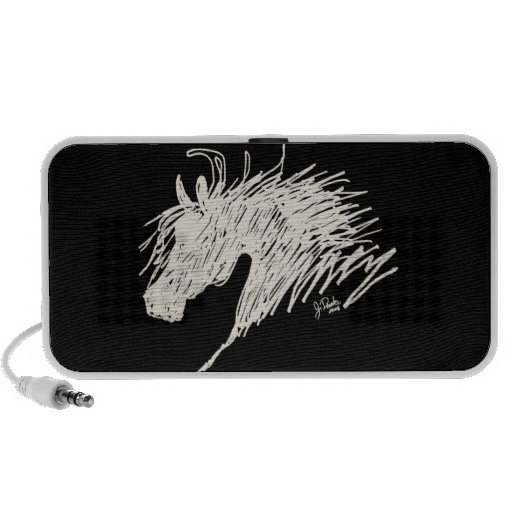 Abstract Horse Head art Mp3 Speakers