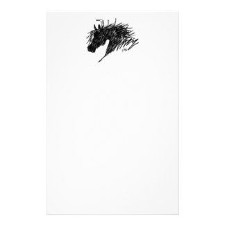 Abstract Horse Head art Stationery Paper