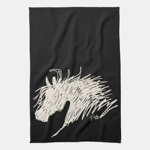 Abstract Horse Head art Towels