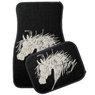 Abstract Horse Head art Floor Mat