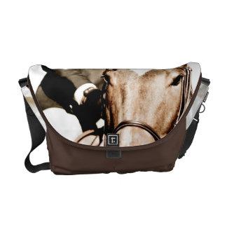 Abstract Horse Head Messenger Bag