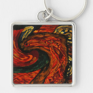 Abstract Horse kering Keychain