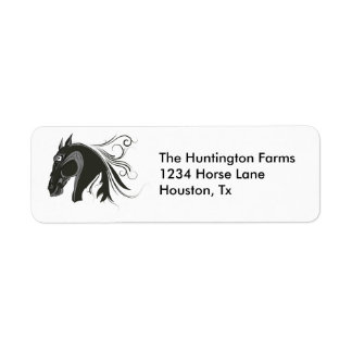 Abstract Horse Return Address Labels