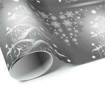 Abstract HORSE Lover Charcoal Christmas Trees Wrapping Paper