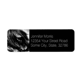 Abstract Horse Mane Photograph Label